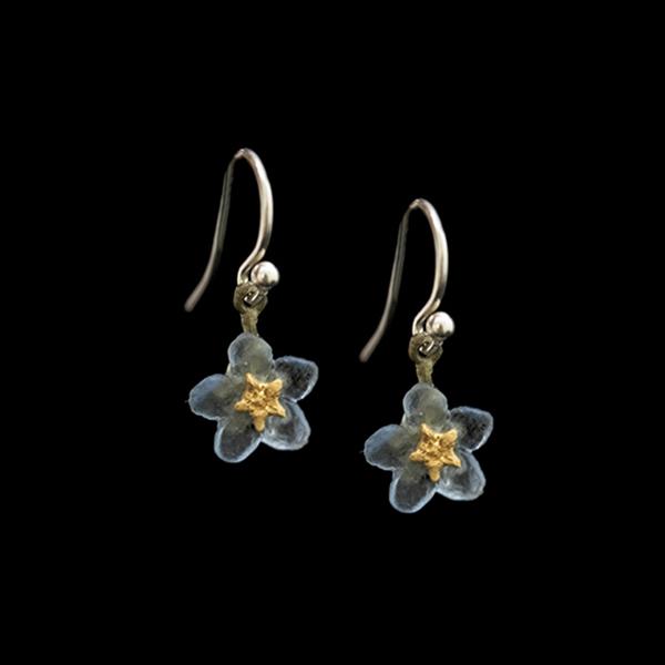 blue forget-me-not dangle earrings