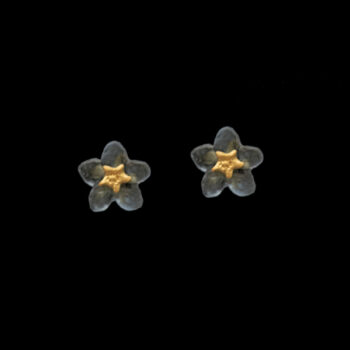 blue forget-me-not post earrings by Michael Michaud