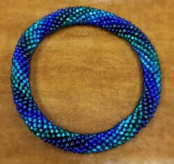 blue roll-on bracelet