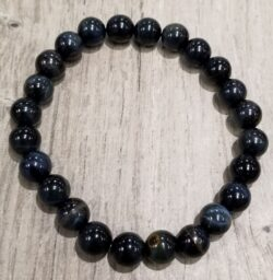 blue tiger's eye stretch bracelet