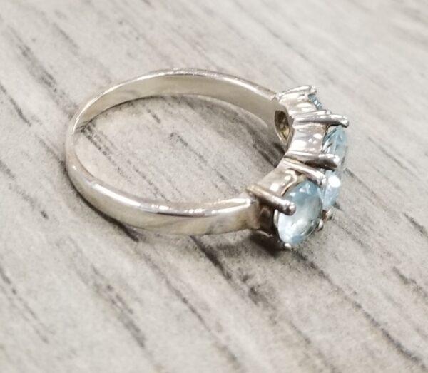 side of blue topaz ring