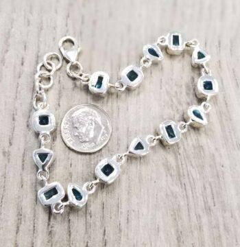 back of blue topaz bracelet