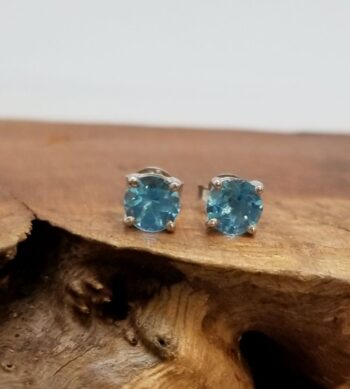 blue topaz and sterling silver earrings