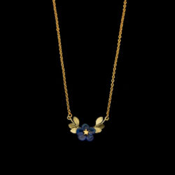 blue violet flower necklace by Michael Michaud