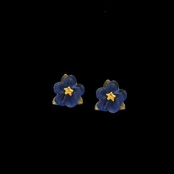 Blue Violets post earrings