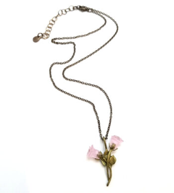 Pink Blushing Rose necklace by Michael Michaud