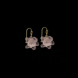 blushing rose dangle earrings by Michael Michaud