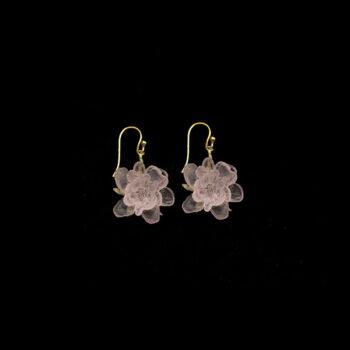 blushing rose dangle earrings by Michael Michaud