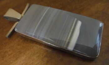 handmade Brazil agate and sterling silver rectangular pendant by Dale Repp
