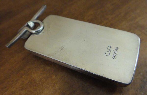 back of Brazil agate pendant