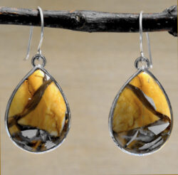 brecciated mookaite jasper drop earrings