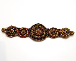 woven seed bead bracelet with magnet clasp