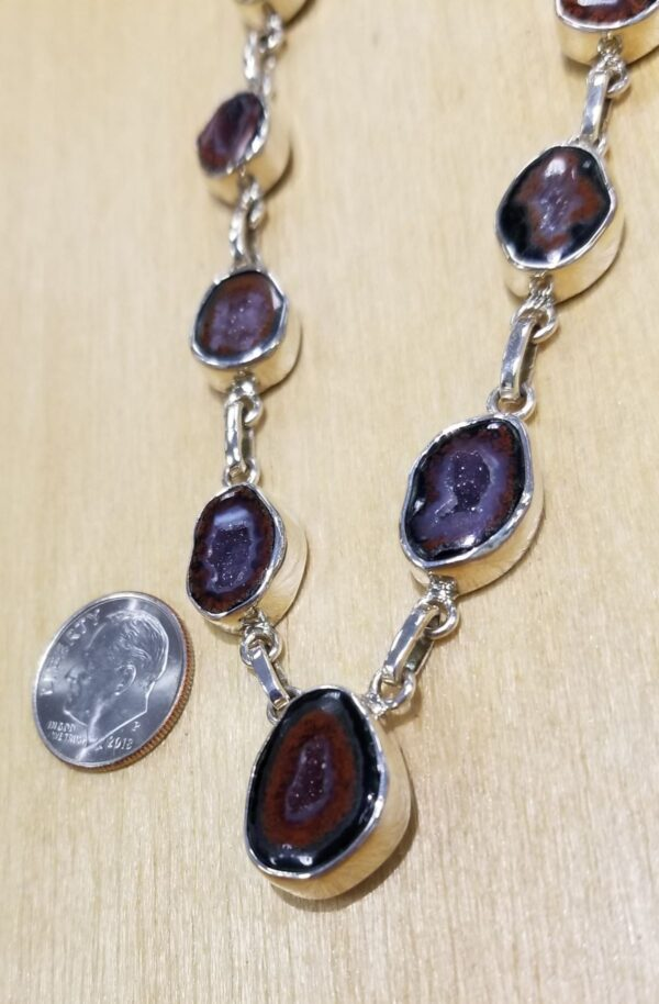 brown geode necklace