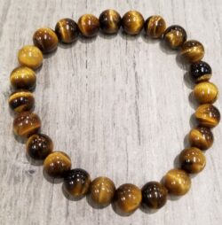 brown tiger's eye stretch bracelet