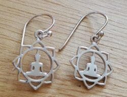 Buddha and lotus flower earrings