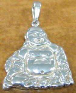 handmade sterling silver Buddha pendant