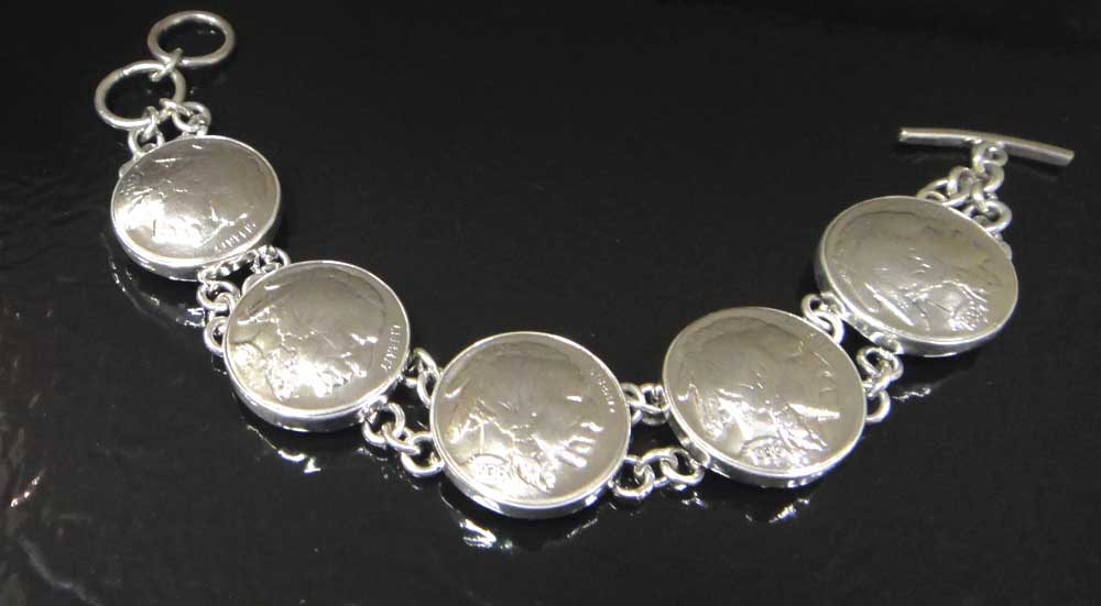 buffalo nickel vintage bracelet