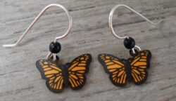 These monarch butterfly earrings are handmade by Sienna Sky.