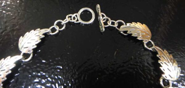 clasp of sterling silver butterfly statement necklace