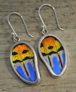 handmade sunset butterfly wings earrings