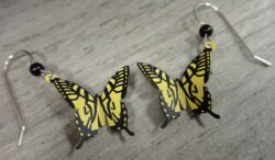 These swallowtail butterfly earrings are handmade by Sienna Sky.
