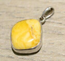 handmade butterscotch amber pendant