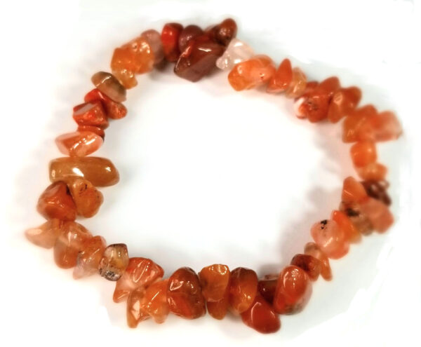 carnelian agate gemstone stretch bracelet