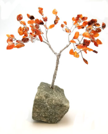 carnelian agate wire sculpture tree g
