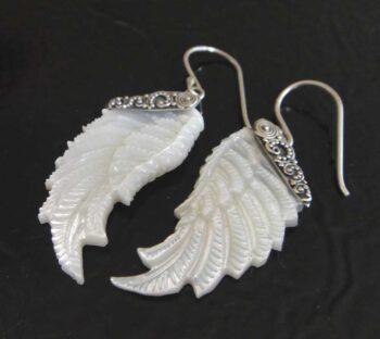 mother of pearl wing earrings