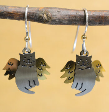 Sienna Sky angel cat earrings