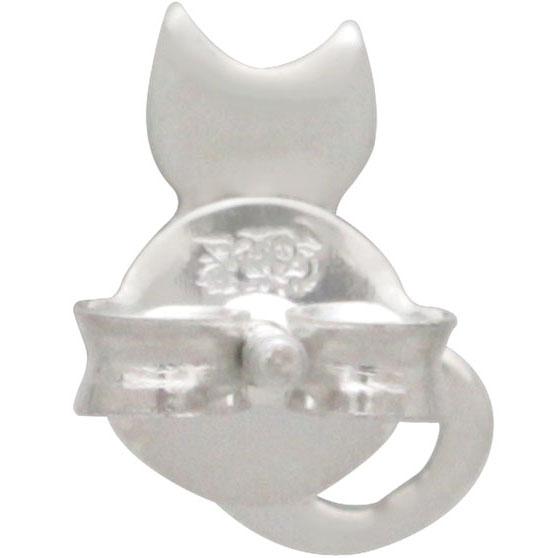 back of cat stud earrings