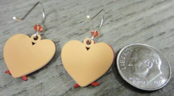 Back of earrings featuring cats in a heart