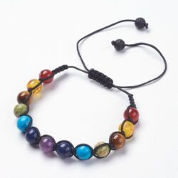 mixed stone adjustable bracelet