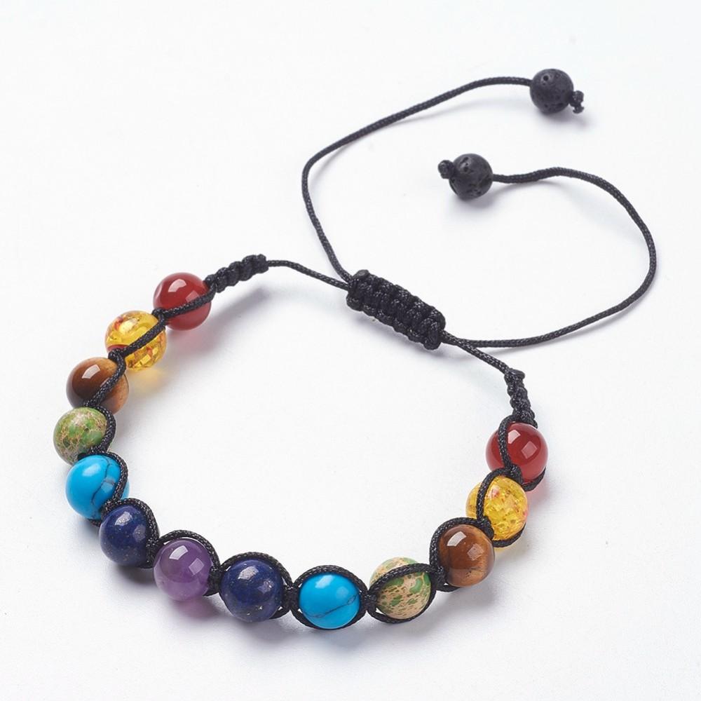 mixed stone adjustable bracelet