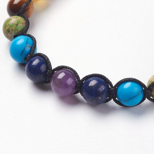 close up of beaded detailed on bracelet