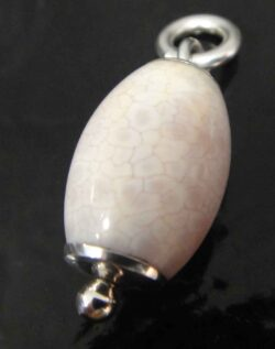 handmade Chinese Agate and sterling silver pendant
