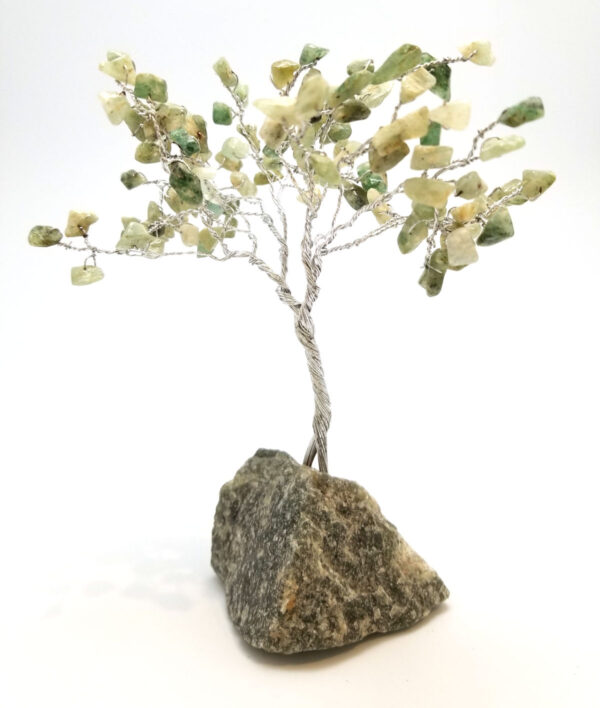 green gemstone tree sculpture