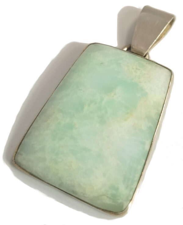 chrysoprase and sterling silver pendant by local jewelry designer Dale Repp
