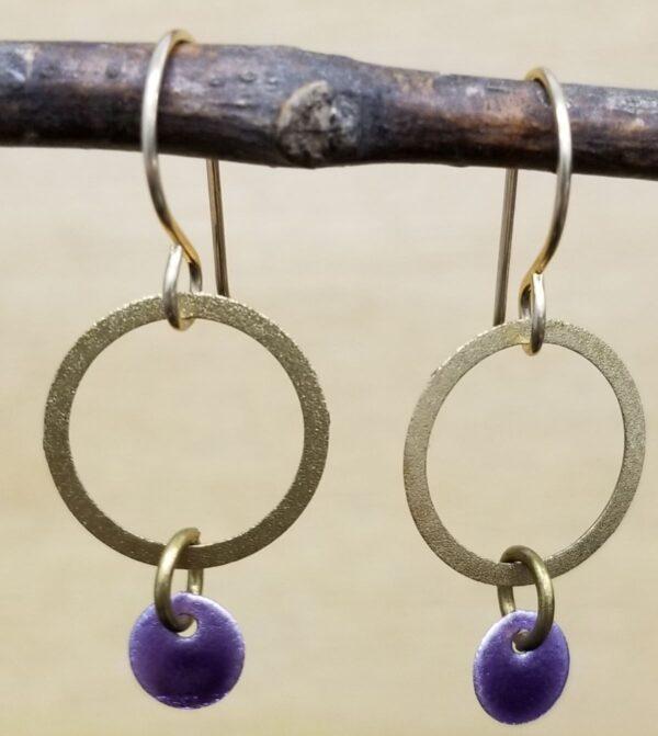 Joseph Brinton circle earrings