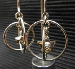 Citrine sterling silver star earrings