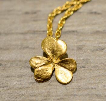 Michael Michaud 14k gold vermeil clover necklace