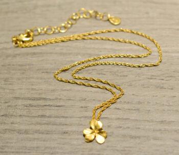 Michael Michaud gold vermeil clover necklace