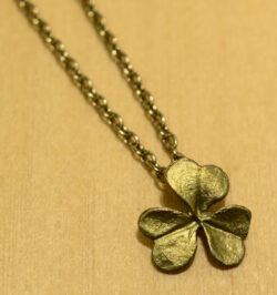 Michael Michaud Silver Seasons clover necklace close up