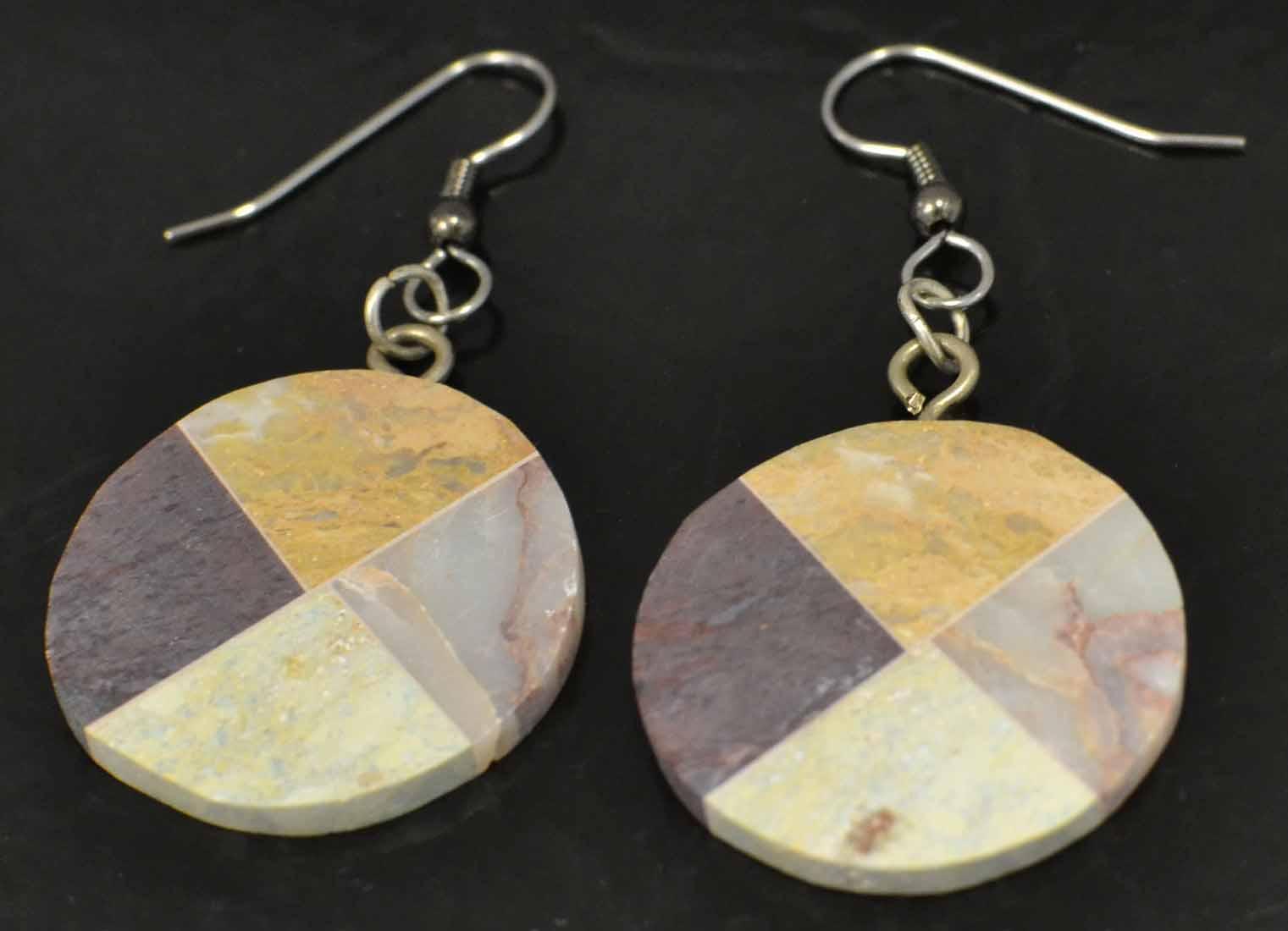 circular combarbalita mosaic earrings