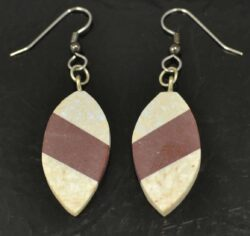 mosaic combarbalita stone oval earrings