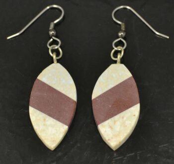 mosaic combarbalita stone oval earrings