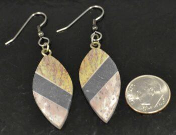 Combarbalita stone dangle earrings