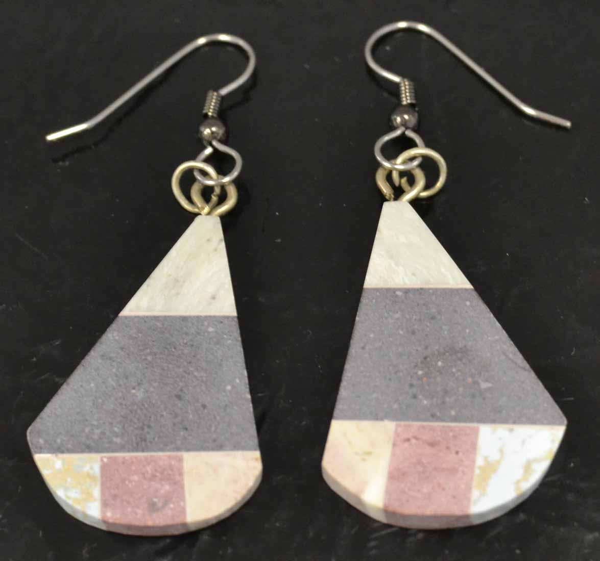 combarbalita mosaic drop earrings