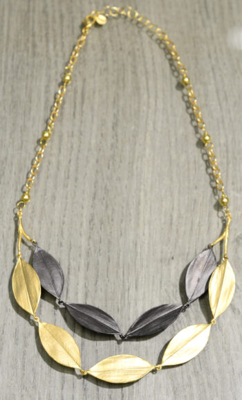 Michael Michaud Silver Seasons cordyline layered necklace