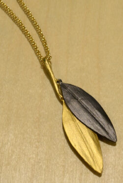 Michael Michaud Cordyline leaves handmade necklace